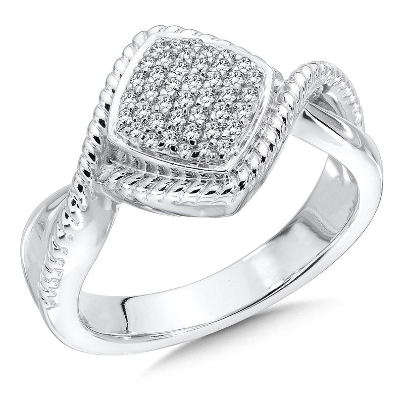 Colore Sg Sterling Silver White Diamond Ring