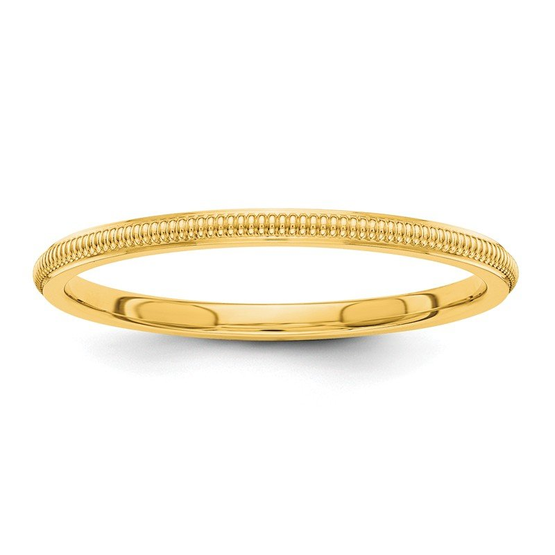 Quality Gold 14k 1.5mm Milgrain Band