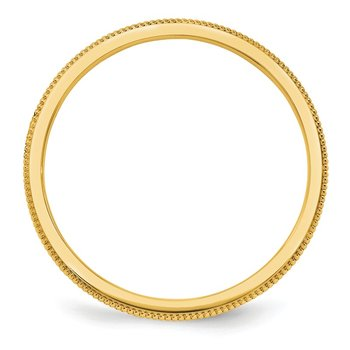 14k 1.5mm Milgrain Band