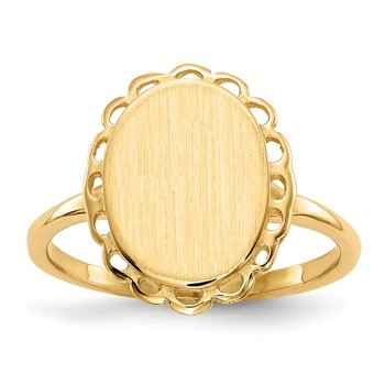 14k 11.5x9.0mm Open Back Signet Ring