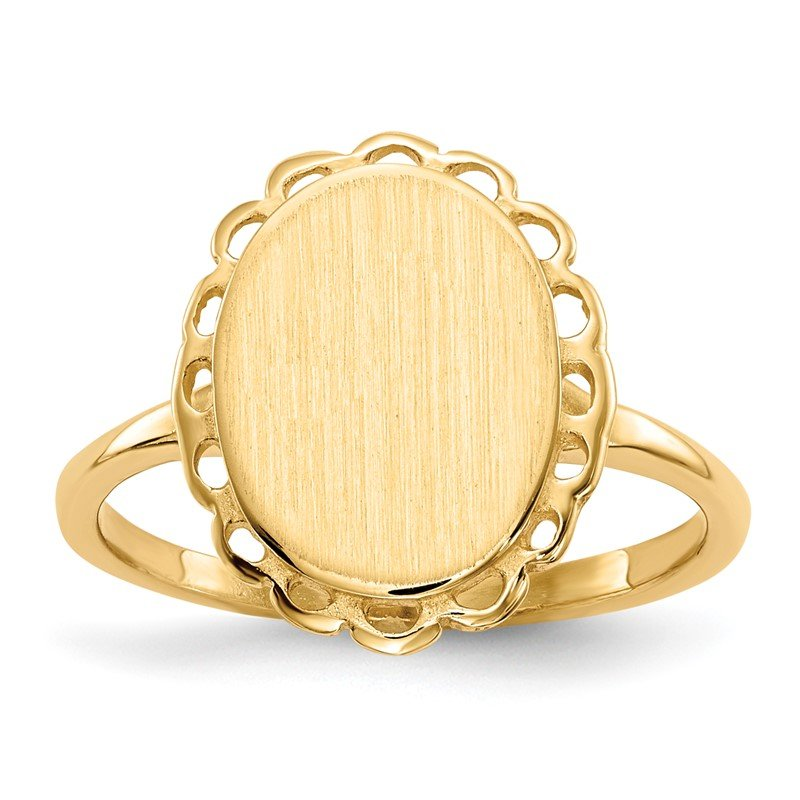 Quality Gold 14k 11.5x9.0mm Open Back Signet Ring