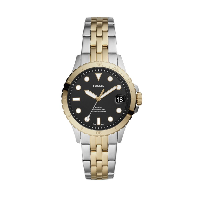 Fossil FB-01 Three-Hand Date Two-Tone Stainless Steel Watch