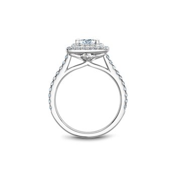 Double Halo Princess Cut Engagement Ring