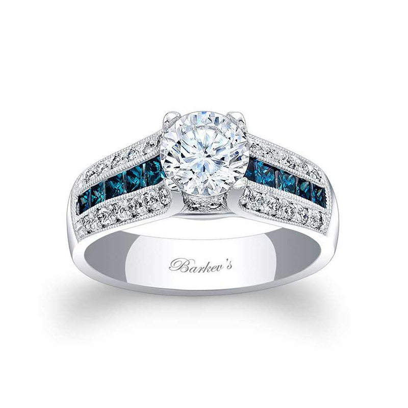 Barkev's Blue Diamond Engagement Ring