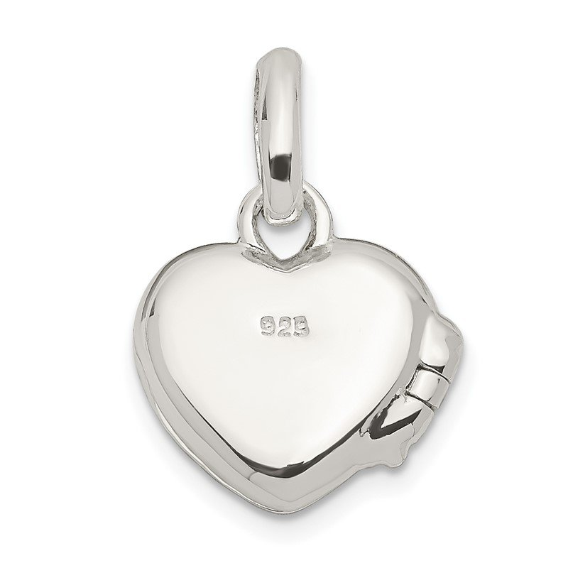 Quality Gold Sterling Silver Blue Enamel Heart Locket