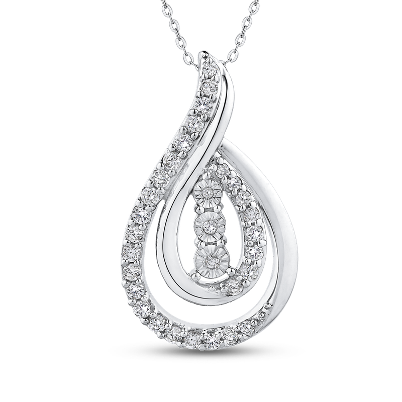 1/3 Ct Diamond Fashion Pendant with Chain