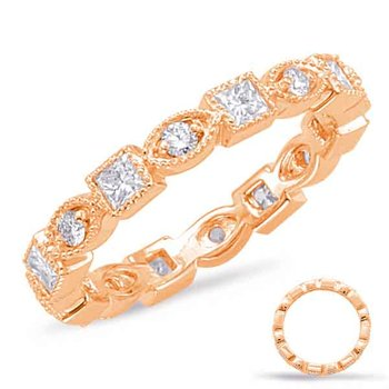 Rose Gold Stackable Eternity Band