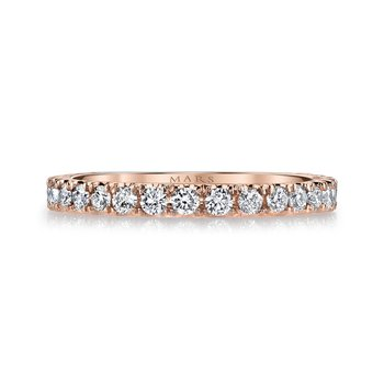 MARS 26562B Women's Wedding Band, 0.46 Ctw