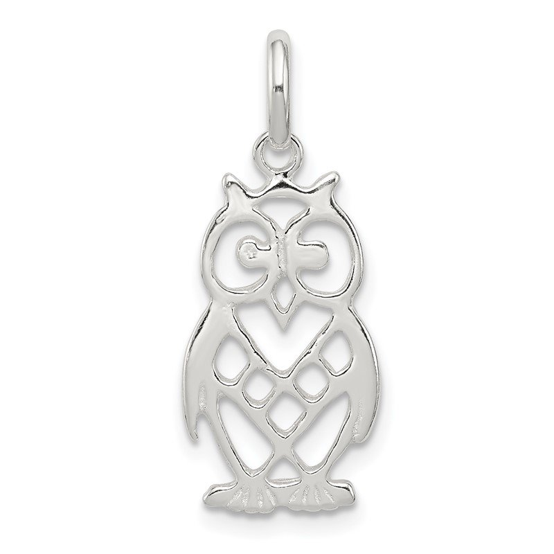 Quality Gold Sterling Silver Owl Charm