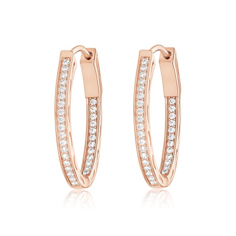 LARUS Jewelry Rose gold plated earrings