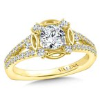 Valina Halo Engagement Ring Mounting in 14K Yellow Gold (.40 ct. tw.)
