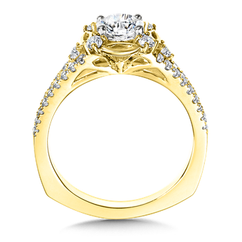 Halo Engagement Ring Mounting in 14K Yellow Gold (.40 ct. tw.)