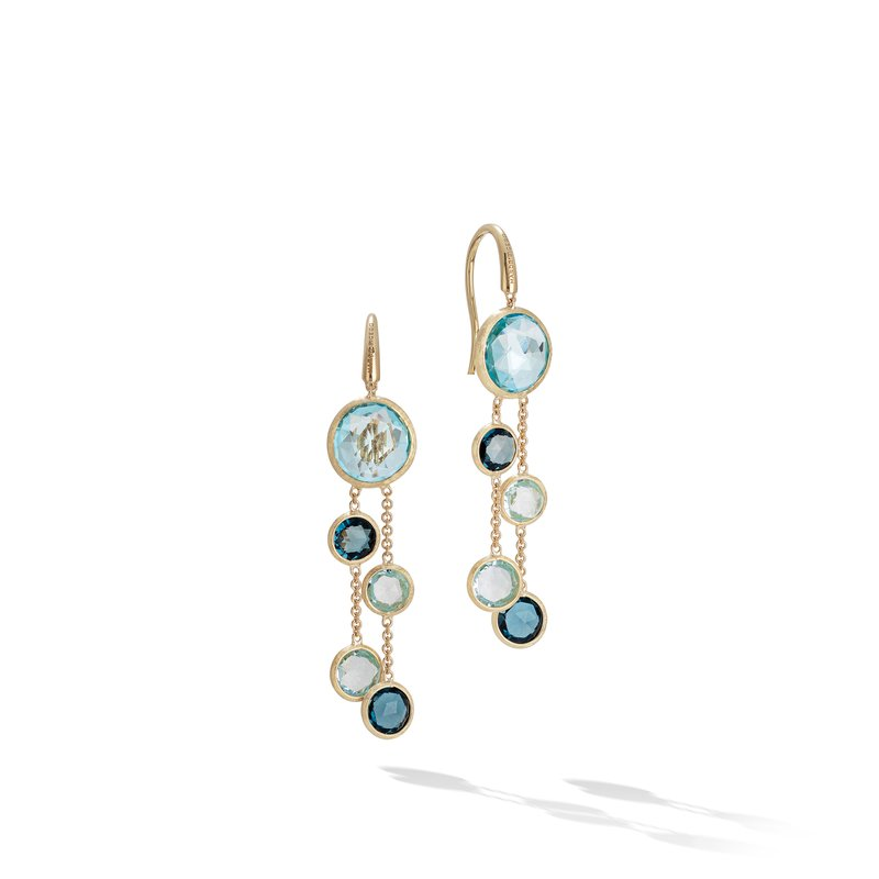 Marco Bicego Jaipur Mixed Blue Topaz Two Strand Earrings