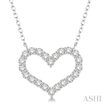 heart shape diamond necklace