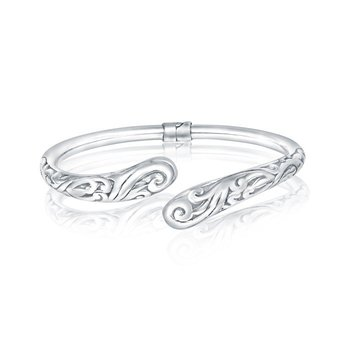 Paisley Open Bangle