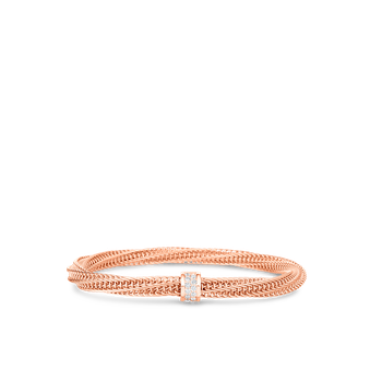 18K GOLD & DIAMOND PRIMAVERA TWIST BANGLE