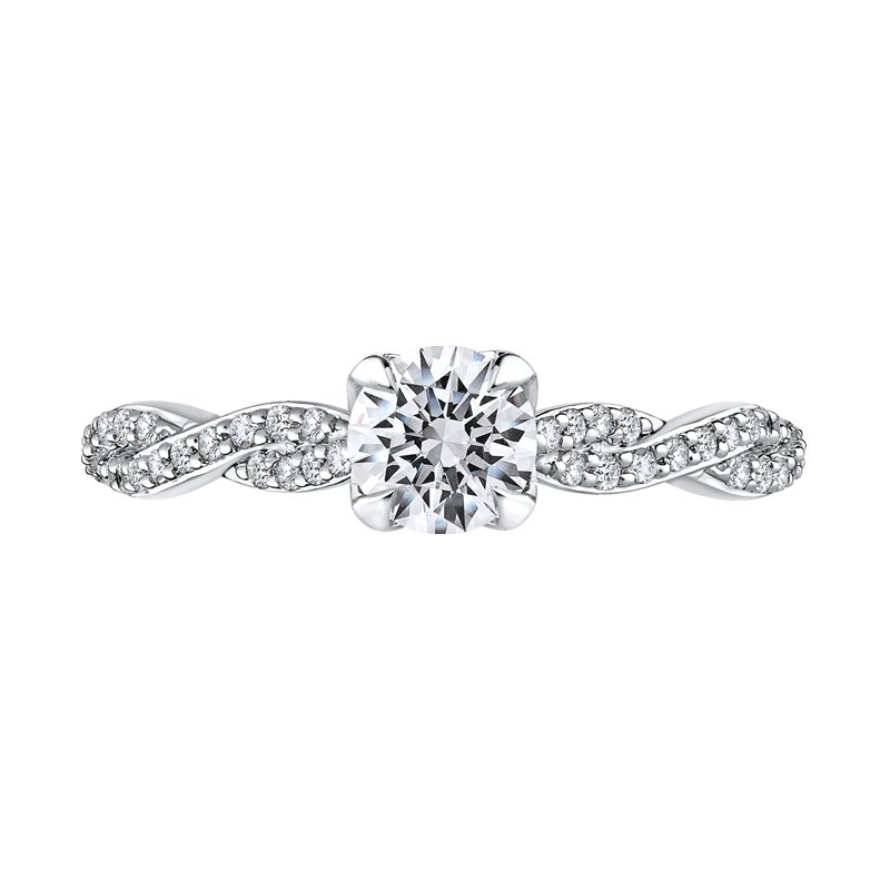 Diamond Semi-mount Engagement Ring by Love Story