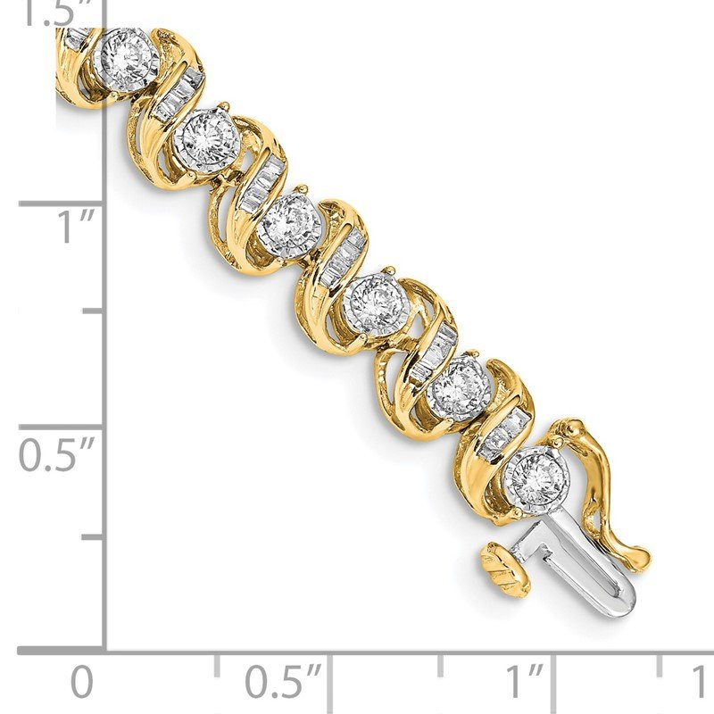 Quality Gold 14k White Gold Diamond Bracelet