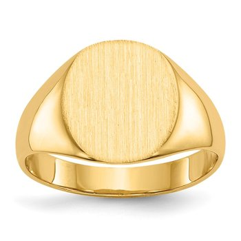 14k 11.5x10.0mm Closed Back Signet Ring