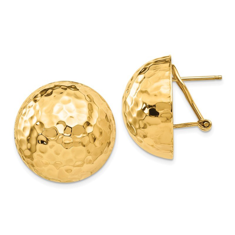 Lester Martin Online Collection 14k Hammered Omega Back Post Earrings