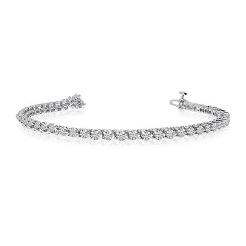 14k White Gold Classic 3 Ct. Tennis Bracelet