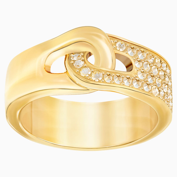Gallon Ring, Golden, Gold-tone plated