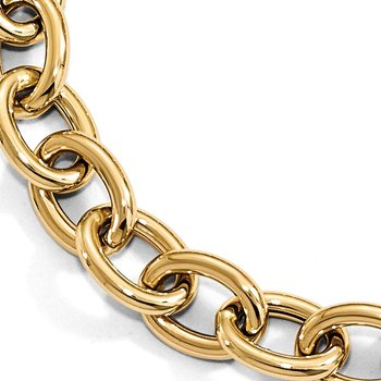 Leslie's 14K Polished Cable Oval Link Bracelet