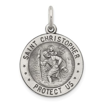 Sterling Silver St. Christopher US Navy Medal