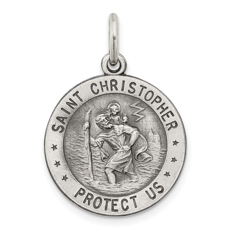 Quality Gold Sterling Silver St. Christopher US Navy Medal