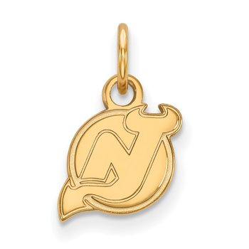Gold-Plated Sterling Silver New Jersey Devils NHL Pendant