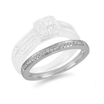 14K WG Diamond Pave Set Wedding Band