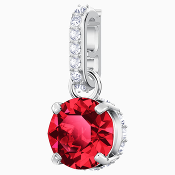 Swarovski Remix Collection Charm, January, Red, Rhodium plated