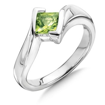 Sterling Silver Peridot Essentials Ring
