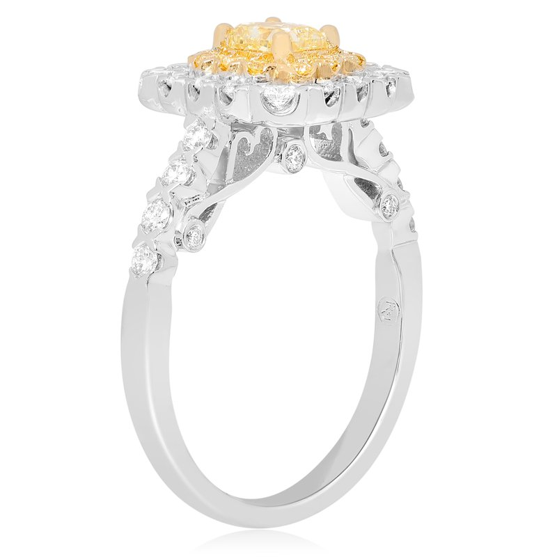 Roman & Jules Flowering Double Halo Diamond Ring