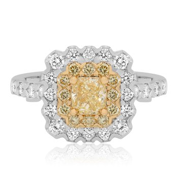 Flowering Double Halo Diamond Ring