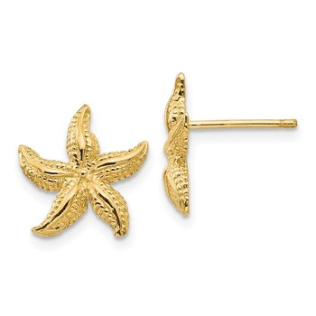 14k Starfish Earrings