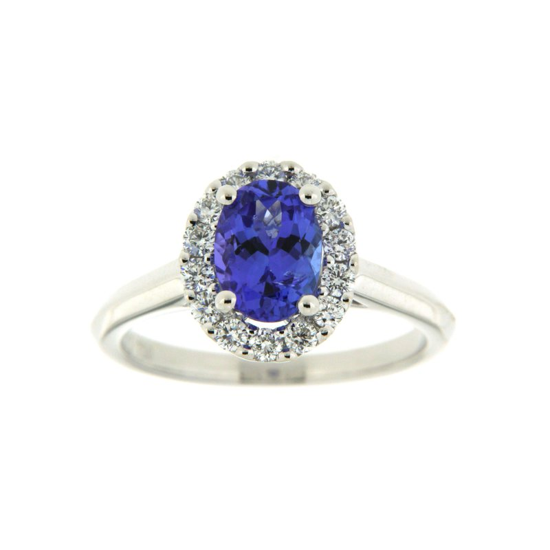 Paragon Fine Jewellery 18k White Gold Ring with Tanzanite & Diamond