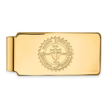 Gold Florida A&M University NCAA Money Clip