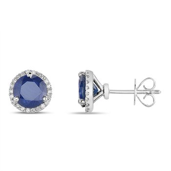 Three Prong Earring Setting