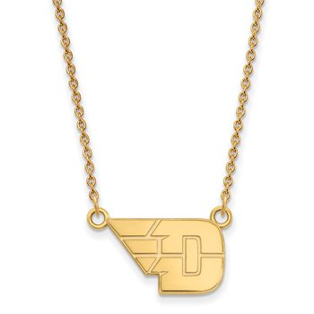 Gold-Plated Sterling Silver University of Dayton NCAA Necklace