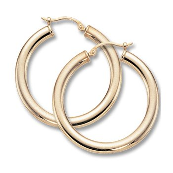 14kt Yel Hoop Earrings