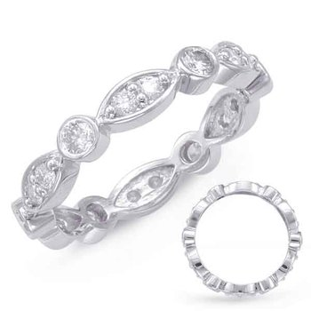 Platinum Stackable Eternity Band
