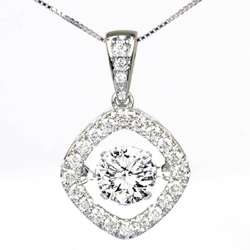 Rhythm of Love 14K Diamond Rhythm Of Love Pendant 1 1/4 ctw (1 ct Center )