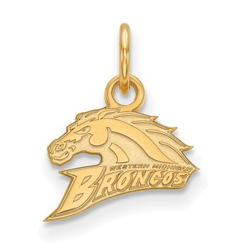 Gold Western Michigan University NCAA Pendant