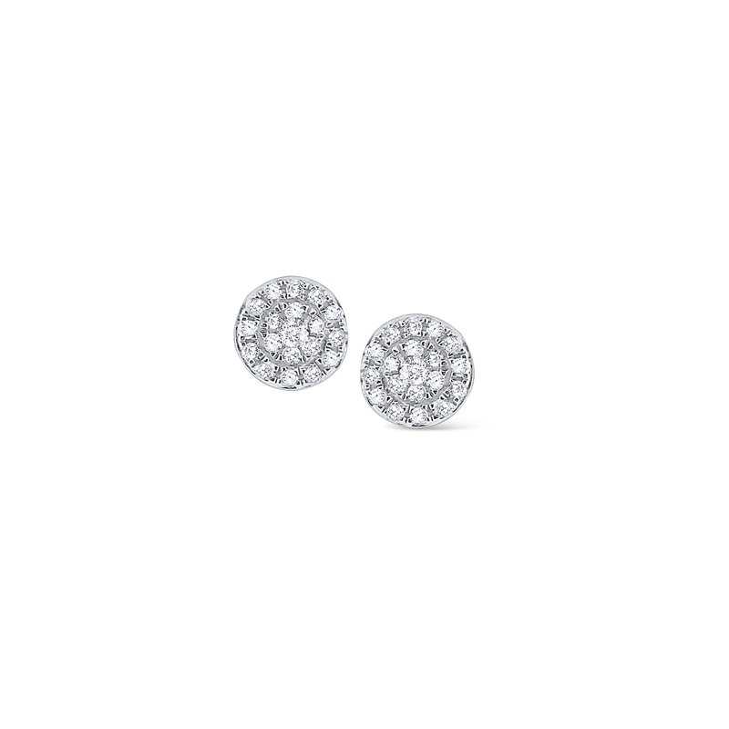 KC Designs 14K Circular Diamond Stud Earrings