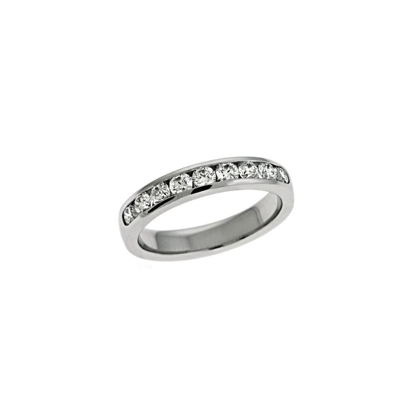 S. Kashi & Sons Bridal Platinum Channel Band