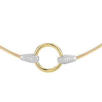 14K-Y ROUND WIRE NECK., 0.30CT