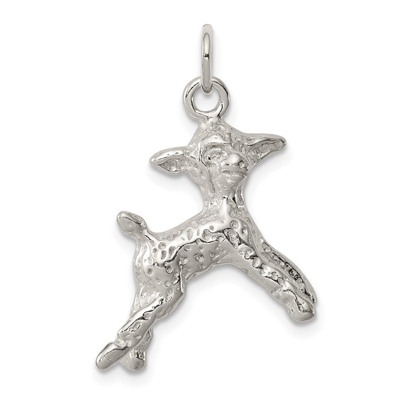 Quality Gold Sterling Silver Lamb Charm