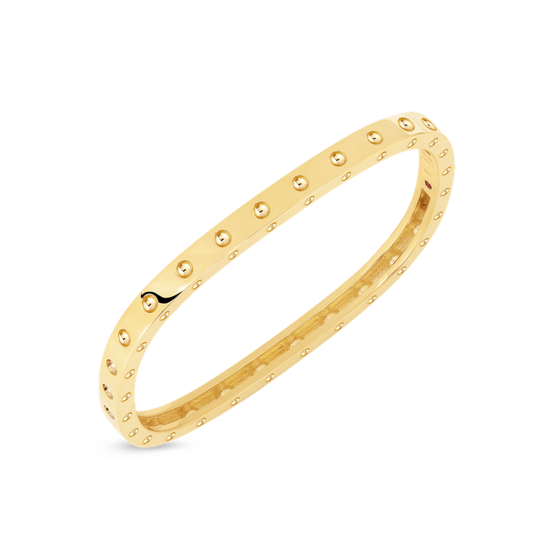 Roberto Coin 18Kt Gold 1 Row Square Bangle