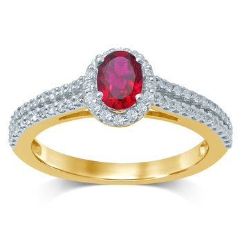 14K 0.33Ct Diamond Ring